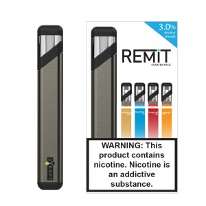 Remit Starter Kit with Variety Flavor Pack - Brushed Silver