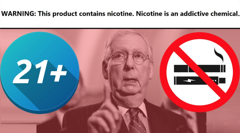 Senator McConnell Wants to Ban Under 21 Smoking and Vaping