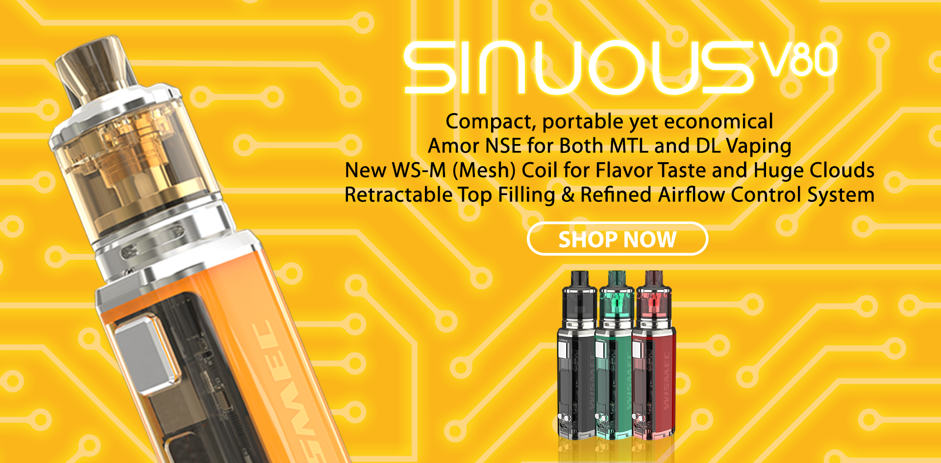Wismec SINUOUS V80 with Amor NSE Kit